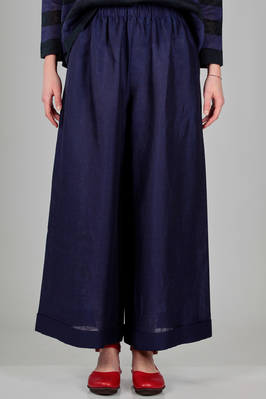 'classic Gregis' trousers in slightly iridescent linen canvas  - 195