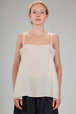 hip length 'petticoat' top in light linen cloth  - 195