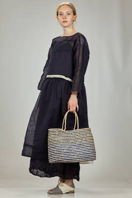bag shake like a basket of medium dimensions in bicolor braided straw - DANIELA GREGIS