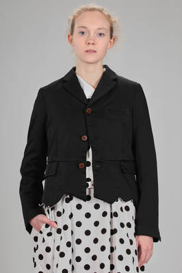short man jacket in techno polyester satin  - 157