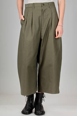 wide trousers in cotton satin  - 74