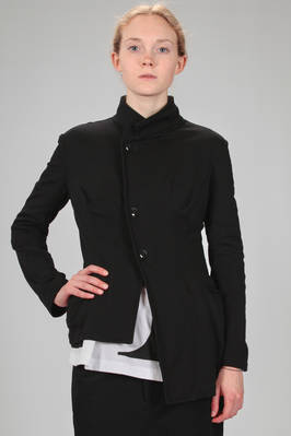 hip length asymmetrical jacket in cotton jersey  - 97