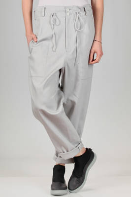 wide trousers in washed cotton twill  - 97