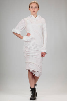 doubled dress in cotton poplin and stretch cotton jersey  - 73