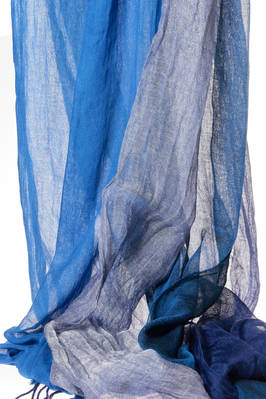 wide scarf in ramiè and viscose gauze in 4 different melange colours  - 73