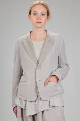 hip length jacket, doubled: one side in cotton gauze and the other in cupro taffetas  - 97