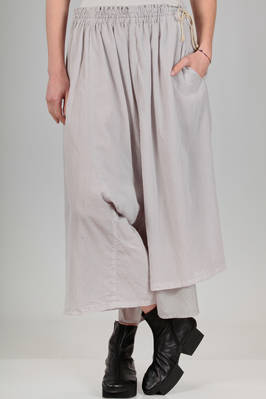 wide divided skirt double: one side in cotton gauze and the other in silk taffetas  - 97