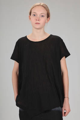 hip length t-shirt washed and wrinkled cotton gauze  - 97