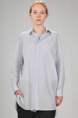 long and wide shirt in light and washed cotton poplin  - 97