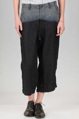trousers like jeans in soft hand linen denim with delavé pattern  - 97