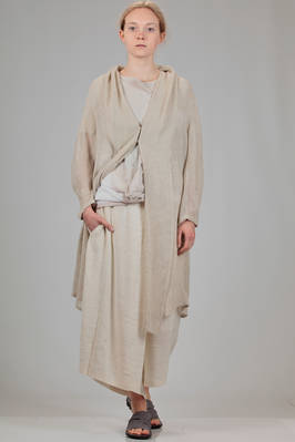 long and wide cardigan in network of linen, viscose and polyamide  - 97
