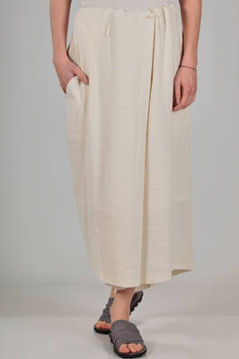 wide divided skirt in very soft linen and viscose canvas, polyester lined  - 97