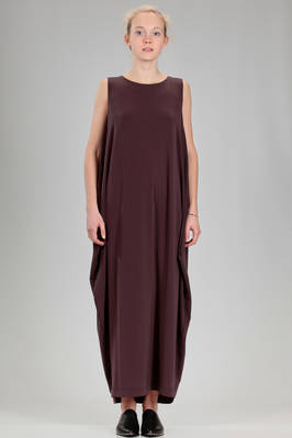 long and wide dress in stretch jersey of triacetate, polyester and polyurethane  - 47