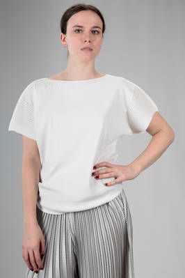 hip length top in 'A-poc' jersey of nylon, cotton and polyurethane  - 47