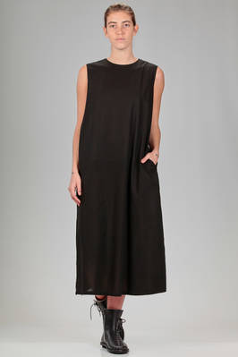 longuette dress in cotton voile serge  - 121