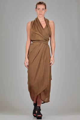 long dress in silk georgette lined in cupro  - 120