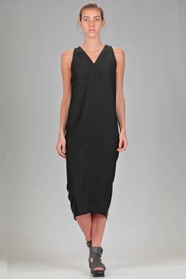 longuette dress in viscose and acetate khady  - 120