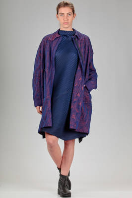 large overcoat in 'floating' knitted textile paper with a cotton lining  - 227