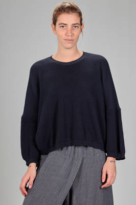 hip length sweater in very soft English coast knit of cotton padded with polyamide  - 227