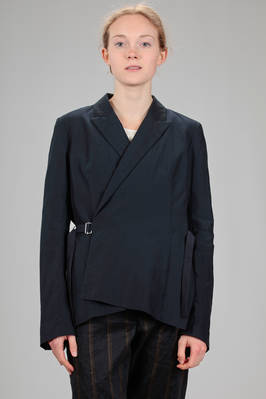 hip length jacket in wrinkled cotton and silk canvas on silk voile  - 161
