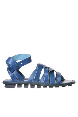 NEPAL sandal in soft woven cowhide leather and classic rounded rubber sole  - 51