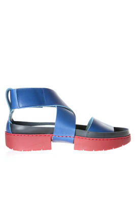 CURRENT sandal in cowhide leather and sole made of two rubber blocks  - 51