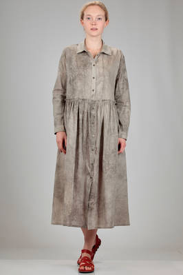 robe-manteaux in washed cotton canvas with shaded base  - 346