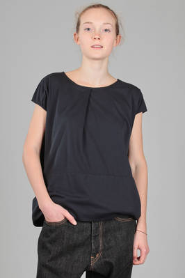 hip length t-shirt in cotton jersey  - 334