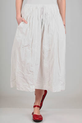 wide, longuette skirt in poplin of washed and wrinkled 'crisp' cotton  - 347