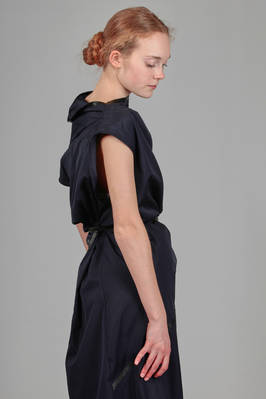 spiral tunic dress in cotton poplin and leather parts - GUSTAVO LINS