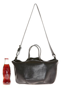 three-dimensional rectangular bag in shinny leather  - 254