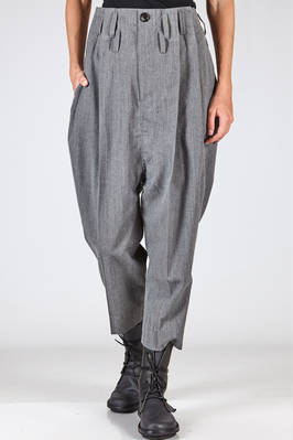 wide trousers in mélange wool faille, cupro lined  - 354