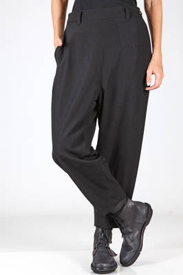 soft trousers in wool gabardine, cupro lined  - 354