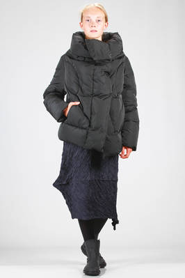 hip length padded jacket in polyester canvas padded with goose and duck feather  - 355