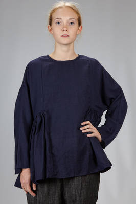 hip length tunic in washed gabardine wool  - 326