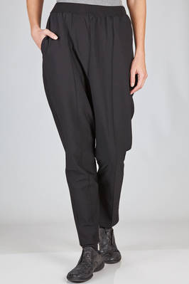 trousers in techno fabric of viscose and polyester  - 227