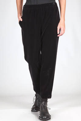 'classic Comme' trousers in smooth cotton velvet  - 48