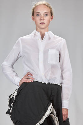 classic man shirt made of 3 layers of different nylon and polyester tulle  - 48