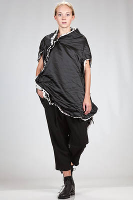 'sculpture' tunic in polyester satin doubled on raw cut cotton and nylon parts  - 48