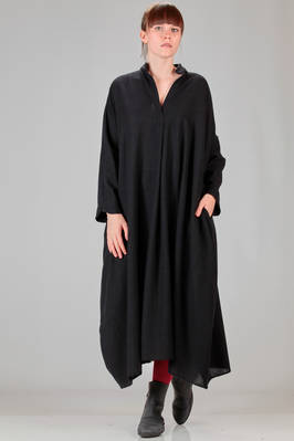 long and wide dress in very soft cashmere gauze  - 195