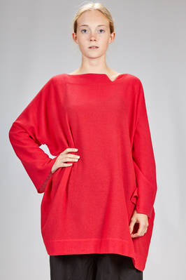 wide, above the knee tunic in melange cashmere gauze  - 195
