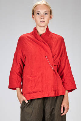 wide hip length jacket in really soft gauze of washed cashmere  - 195