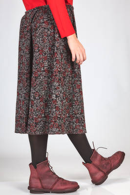 wide knee length skirt in loom made wool jacquard - DANIELA GREGIS