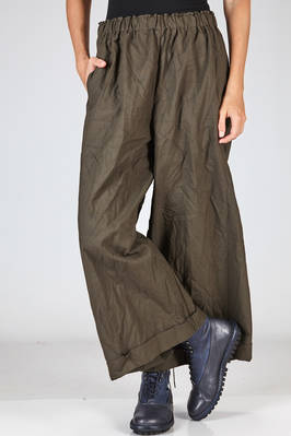 wide trousers in washed and wrinkled citizen cotton  - 195
