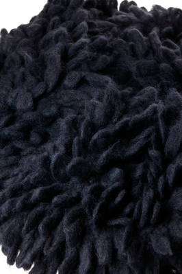 long and narrow rectangular scarf in knitted alpaca fur  - 195