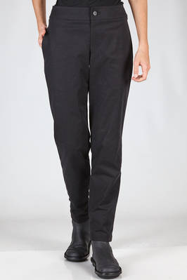 slim fit trousers in polyester alcantara slightly stretch  - 47
