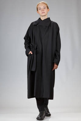 132 5. Issey Miyake – long overcoat in wool and polyester gabardine  - 47