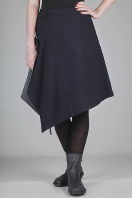 knee length skirt in wool and polyester cloth  - 121