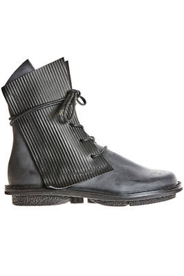 RECTANGLE boot in cowhide leather with side contrasting panels overlaid at the ankle  - 51