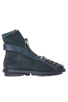 HIGHWAY boot in soft cowhide leather with nabuk effect and laces  - 51